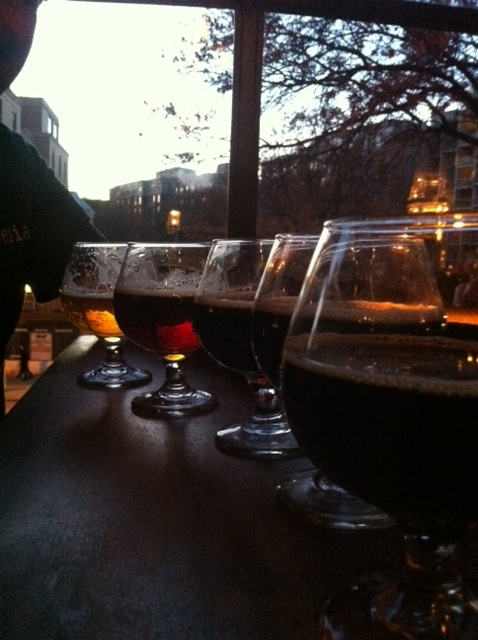 Flight of beer at Churchkey at the end of a long day playing tourist